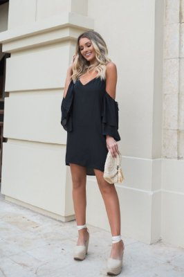 SALE | Vestido Regata Estella Preto