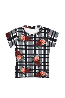 LONDON COLLECTION | Blusa Blessinha  Xadrez Roses