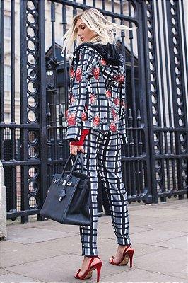 LONDON COLLECTION   Calça Estampa Xadrez Lary