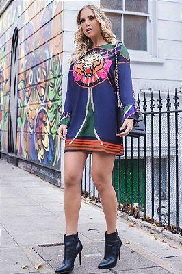 LONDON COLLECTION | Vestido Estampa Tigress