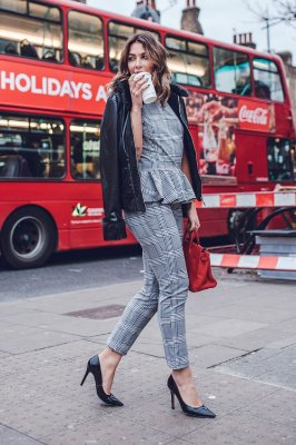 LONDON COLLECTION |  Calça Alfaiataria Xadrez Grey