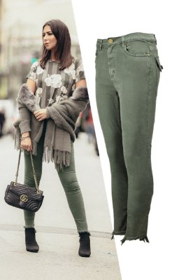 PARIS COLLECTION | Calça Sarja Verde Militar
