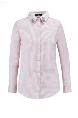 PARIS COLLECTION | Camisa Bordado Gola Cécilli  Rosa