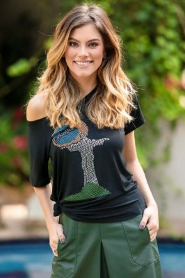 WORLD CUP | T-shirt Blusa Brilhos Cristo Redentor