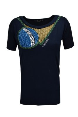 WORLD CUP | T-Shirt Bordado Colar Brasil