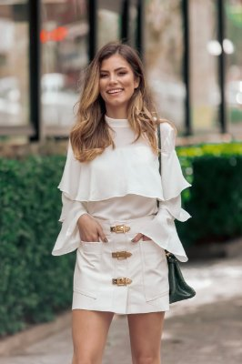 SPRING PREVIEW | Camisa Off-White Babados Detalhe Botão