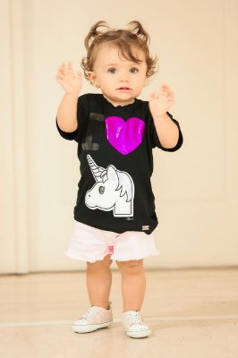BLESSED UNICÓRNIO | Blusa Blessinha I love Unicórnio Infantil