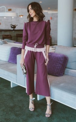 SPRING PREVIEW | Conjunto Blusa Purple Calça Pantacourt