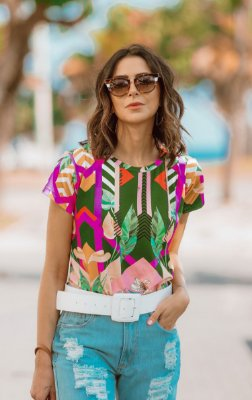 SPRING PREVIEW | Blusa Geometric Flowers