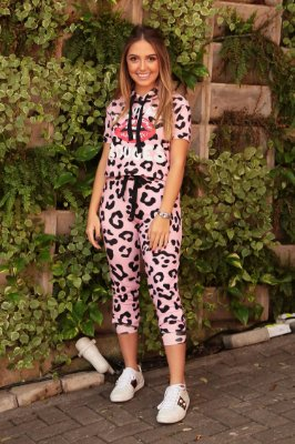 SPRING PREVIEW | Conjunto Teen Estampa Jaguar Pink Mouth