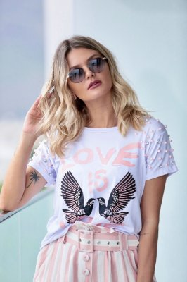 SPRING PREVIEW | Blusa Love is Love Birds and Pearls