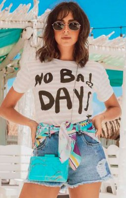 TULUM COLLECTION | Blusa Podrinha Listras No Bad Days
