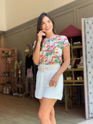 TULUM COLLECTION | Shorts Linho Off White