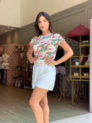 TULUM COLLECTION   Shorts Linho Off White