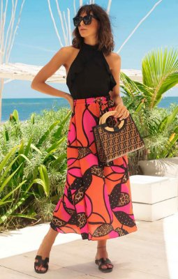 SALE | Saia Midi Estampa Favorite Print