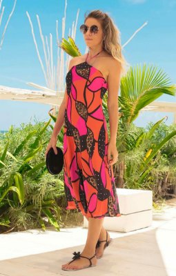 TULUM COLLECTION | Vestido Frente Única Favorite Print