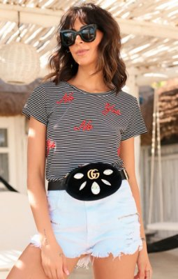 TULUM COLLECTION | Blusa Listras No Yes Bordado