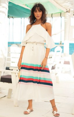 TULUM COLLECTION | Saia Midi Off Listras Color