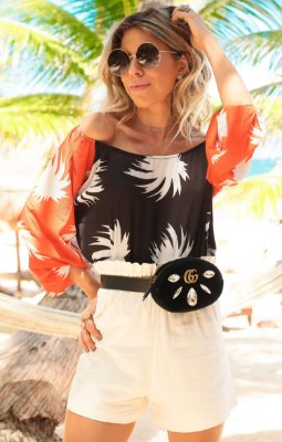 TULUM COLLECTION | Blusa Estampa Coconut