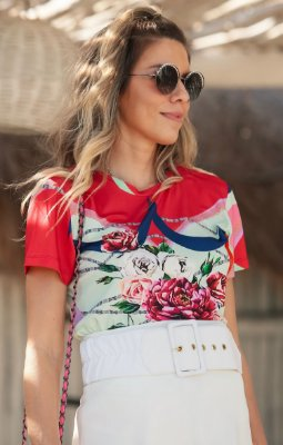 TULUM COLLECTION | Blusa Estampa Rose Garden