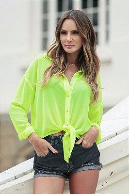 SUMMER PARADISE | Camisa Amarração Neon