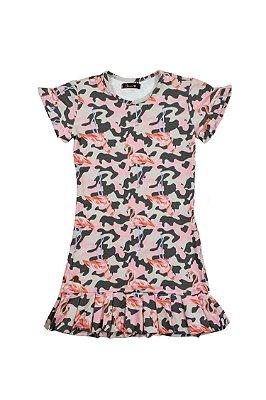 SALE | Vestido Blessinha Flamingo Camuflado
