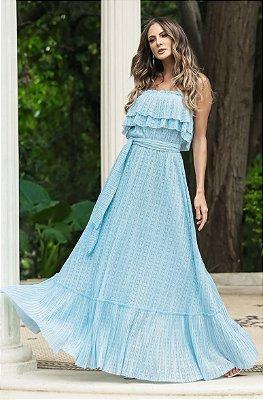 SUMMER PARADISE | Vestido Longo Babado Amarração
