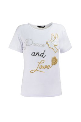 SUMMER PARADISE | Blusa Peace and Love Pássaro Bordado