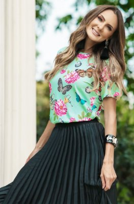 SUMMER PARADISE | Blusa Estampa Butterfly Flowers