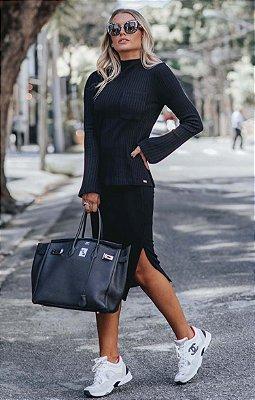 URBAN STYLE | Conjunto Canelado Street Style Black