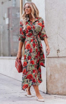 URBAN STYLE | Chemise Estampa Exclusive Red Flowers