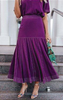 SPRING PREVIEW | Saia Midi Púrpura