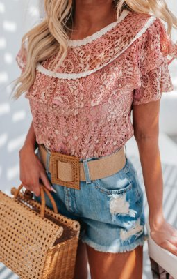 SANTORINI | Shorts Jeans Taxas