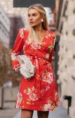 NYC COLLECTION | Vestido Magnolia Floral Red