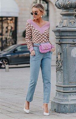 Calça Jeans Drapiado | L'AMOUR COLLECTION