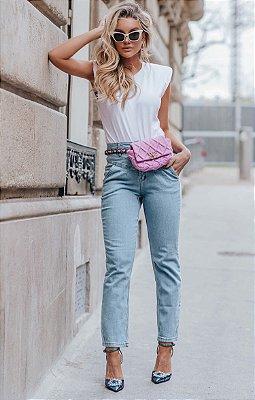 L'AMOUR COLLECTION | Calça Jeans Drapiado