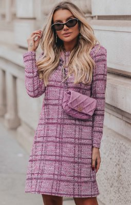 L'AMOUR COLLECTION | Vestido Tweed Ivês Rose