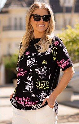 Camiseta Grafite Preta | BLESSED ART