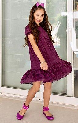 Vestido Blessinha Jasmim Roxo | DROPS OF JOY