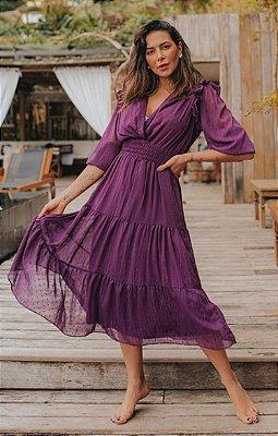 Vestido Jasmim Roxo | DROPS OF JOY
