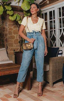 Calça Jeans Slouchy Celine | RIVIERA FRANCESA