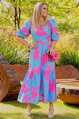 Vestido Midi Leopoldine | RIVIERA FRANCESA