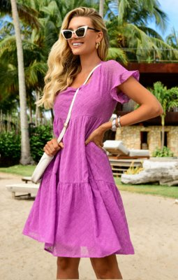 Vestido Brigitte Roxo | RIVIERA FRANCESA