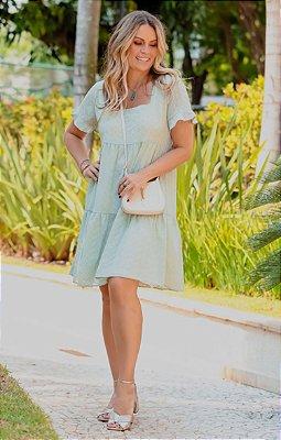 Vestido Brigitte Verde | RIVIERA FRANCESA