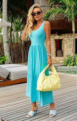 Vestido Madeleine Azul | RIVIERA FRANCESA