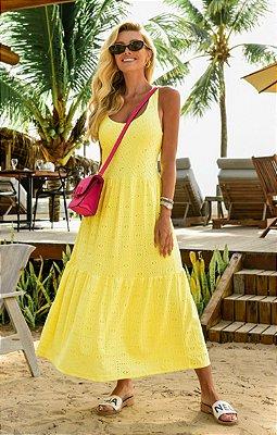 Vestido Madeleine Amarelo | RIVIERA FRANCESA