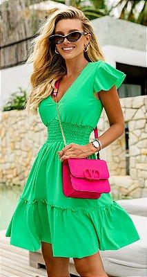 Vestido Dorothea Verde | RIVIERA FRANCESA