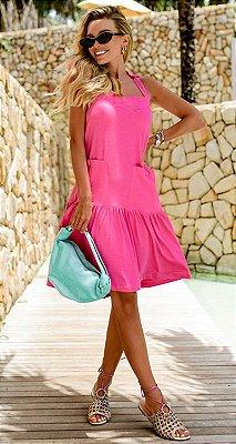 Vestido Ariane Rosa | RIVIERA FRANCESA