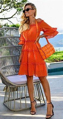 Vestido Delphine Coral | RIVIERA FRANCESA