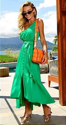 Vestido Jade Verde | RIVIERA FRANCESA
